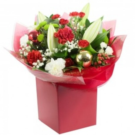 Christmas Cheer Hand Tied Bouquet